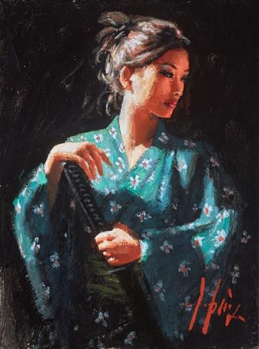 Image: ART00146535 (Geisha en Turquesa)